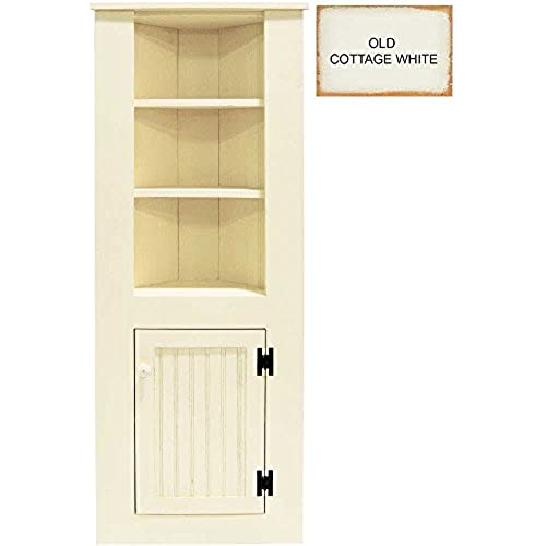 Charmant Sawdust City 109aWooden Corner Hutch, Small, Old Cottage White