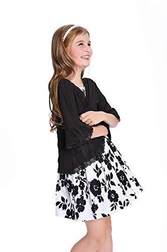 Danna Belle Black Girls Long Sleeve Flower Girl Cardigan Sweater 7 Y DB05-1