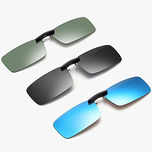 Gris nocturne Tukistore soleil cadre de lunettes de Noir rectangle de femmes Up Clip lentille polarisées polarisées sur sans soleil pour lunettes hommes lunettes lunettes Flip vision qqrS6z