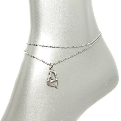 V G S Eternity Fashions Fashion Jewelry ~ Heart Anklet Style Anklet AN 0210