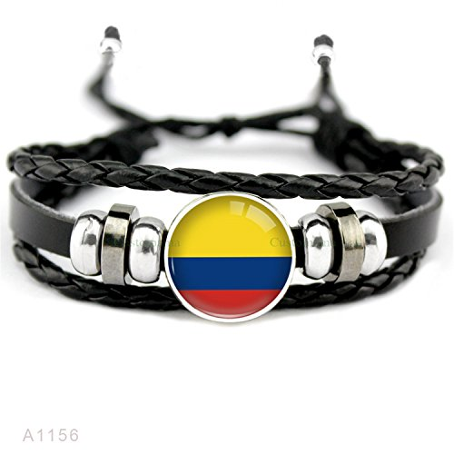 HuoGuo Many Country Flags Russia France Portugal Germany Serbia Poland England Spain Belgium Soccer Sports Leather Charm Bracelets