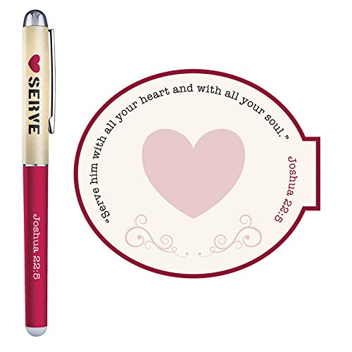 US Gifts Serve with a Heart Like Jesus Gift Pen with Notepad - 12/pk by US Gifts (Image #2)
