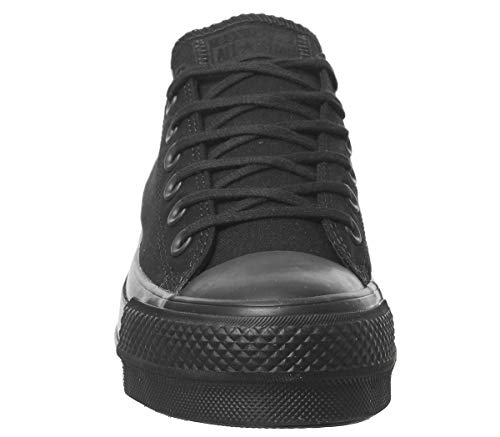 All Black Chuck Donna Star Nero Clean Converse Taylor Lift Sneaker Ox ERq7qxZ