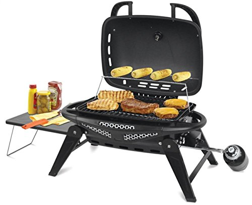Foldable Legs Crossfire Charcoal Gas Grill Portable LP