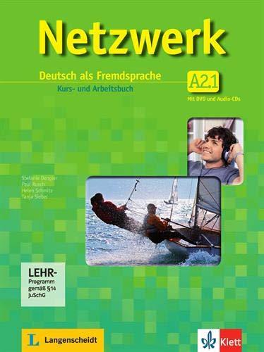 Netzwerk in Teilbanden: Kurs - Und Arbeitsbuch A2 - Teil 1 MIT 2 Audio Cds Und DVD (German Edition)