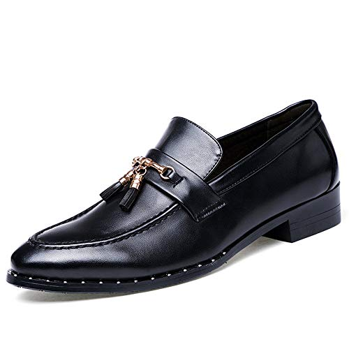 Scarpe tacco da shoes 40 EU Basse vitello 2018 Stringate pelle Dimensione Nero Xujw con di in Marrone Color Scarpe uomo piatto uomo da YEfwxO