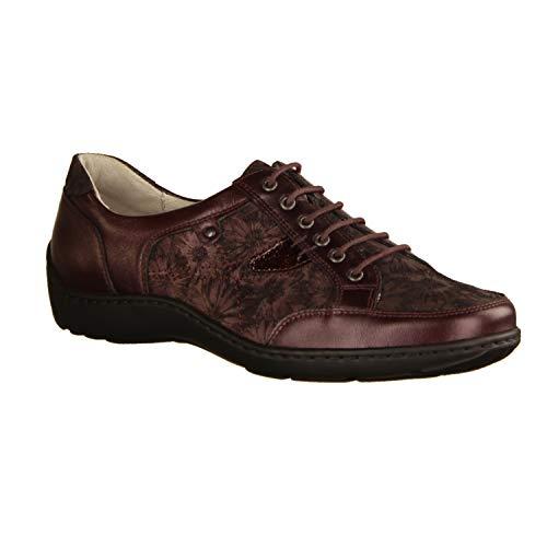 Chaussures Waldläufer Bordeaux Femme à Ville Lacets pour de fwqTOd