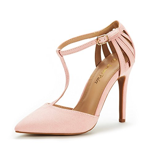 DREAM PAIRS Women's Oppointed-Mary Pink Fashion Dress High Heel Pointed Toe Wedding Pumps Shoes Size 7.5 M US