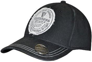 04bdc6978b729 Guinness Distressed Gaelic Irish Label Cap - Men s Bottle Opener Baseball Hat  Black