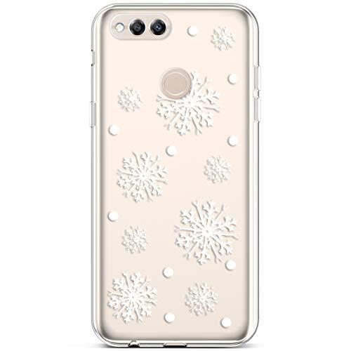 Neige 7x Huawei Transaprent Souple rayures Flocon Silicone Morechioce Transparente Pour Noël 7x Anti Cerf Christmas coque Honor Coque Flexible Bumper 5XOZ4wqwFP