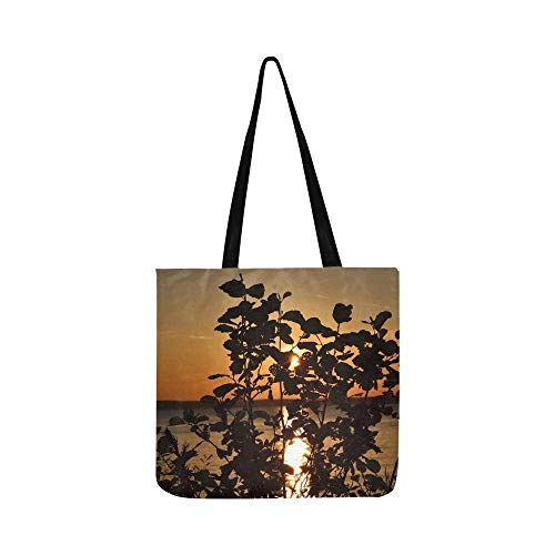 Tree Lake Sky Sunset Tampere Canvas Tote Handbag Shoulder Bag Crossbody Bags Purses For Men And Women Shopping Tote (Saint Laurent Monogram Leather Cross Body Bag)
