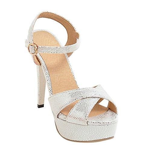 Shoes Mee Scarpe Da Con Alto Sandalo Tacco Donna Bianche E rrfqCwxd