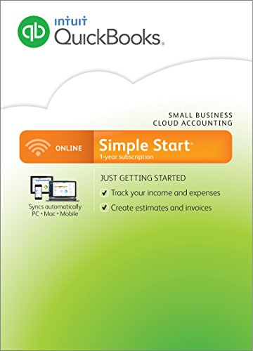 QuickBooks Online Simple Start Small Business Accounting Software (PC/Mac) (Old Version)