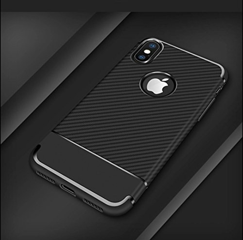 iphone X case, iphone 10 case, Special Corporate Edition thin Shock Proof Protective TPU Case Cover For apple Iphone X, Carbon fiber design by Zyga Cases