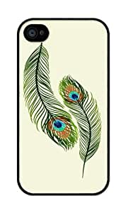 iZERCASE Peacock Feathers Rubber iPhone 4 Case - Fits iPhone 4, iPhone 4S T-Mobile, AT&T, Sprint, Verizon and International