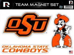 Rico Industries NCAA Oklahoma State Cowboys Die Cut Team Magnet Set Sheet