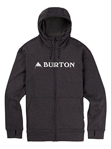 Burton Men's Oak Full-Zip Hoodie, True Black Heather W19, XX-Large - Hooded Jacket Fleece Burton
