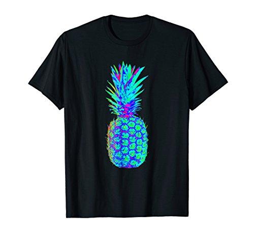 EDM Rave Festival Shirt - Trippy Neon Pineapple Tee