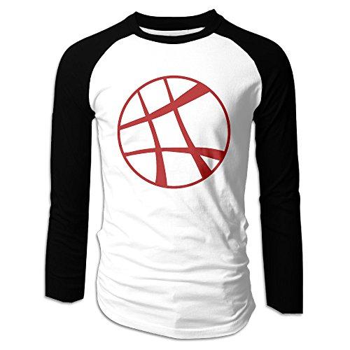 [Creamfly Mens Doctor Strange Logo Long Sleeve Raglan Baseball Tshirt XL] (Jessica Jones Marvel Costume)