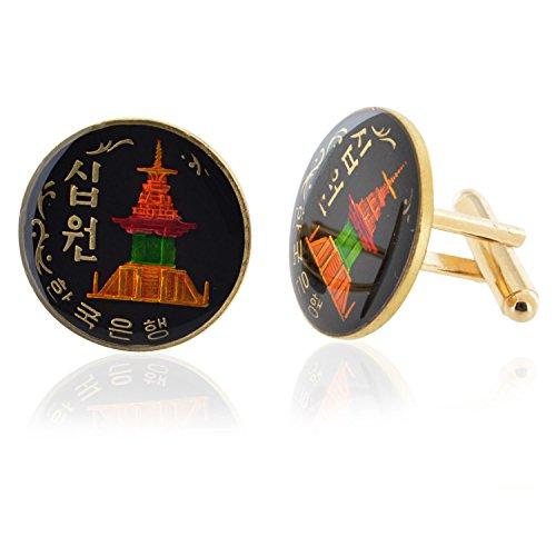 Korea Korean Pagoda Coin Cufflinks