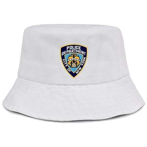 Cool Bucket Hats for Women Cotton Unisex Packable Beach Sun Hat Travel Hunting New York City Police Department Wide Brim Caps