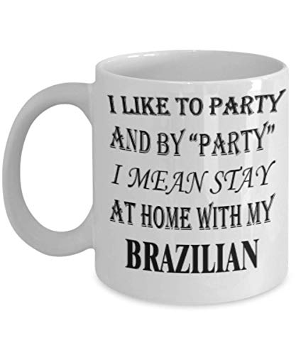 Funny Brazilian Gifts 11oz Coffee Mug - I Mean Stay At Home - Best Inspirational Gifts and Sarcasm Rabbits Lover ak4054 (Best Wax For Brazilian At Home Uk)