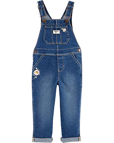 OshKosh B'Gosh Girls' Toddler World's Best Overalls, Gemma Rose, 5T - Oshkosh B Gosh Children's Clothing