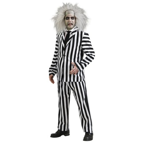 [Deluxe Beetlejuice Costume - Standard - Chest Size 46] (Deluxe Beetlejuice Adult Halloween Costumes)