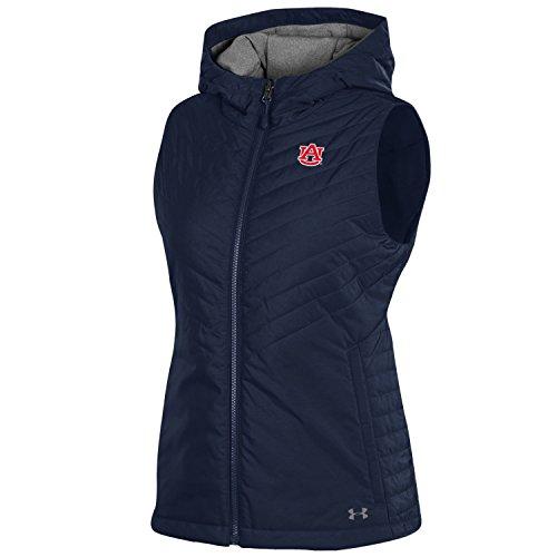 Under Armour NCAA Auburn Tigers Women's Puffer Vest Sports Fan Outerwear Jackets, Large, Navy Auburn Under Armour
