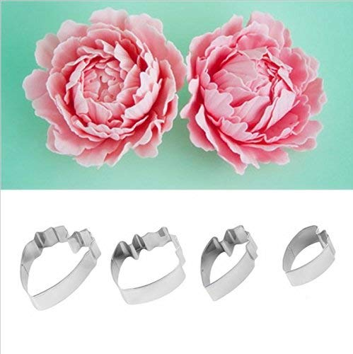 (OKUBOX BT05 Herbaceous Peony Petral Cutter Decor Fondant Cake Cutters 4pcs.)
