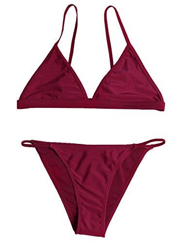 SweatyRocks Womens Burgundy Triangle Bralette product image