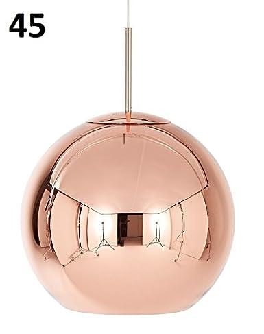 Copper Round lámpara colgante: Amazon.es: Iluminación