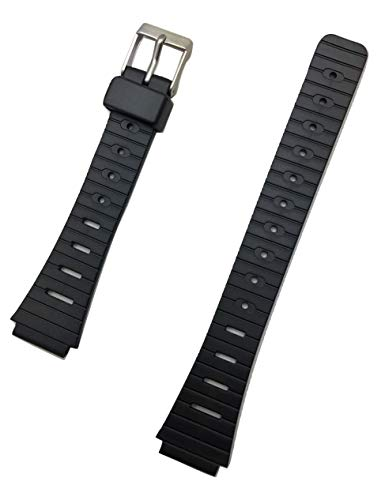 14mm Black Rubber PVC Material Watch Band | Comfortable and Durable Replacement Wrist Strap That Brings New Life to Any Watch for Men and Women (15mm Nylon Watch Band)