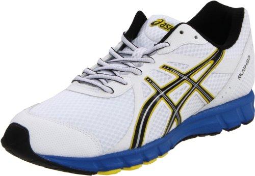ASICS Men's Rush33 Running Shoe White/Black/Brilliant Blue free shipping enjoy best wholesale FuNbINg8
