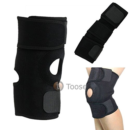 Black Neoprene Patella Elastic Knee Brace Fastener Support Guard Gym Sport New from Generic
