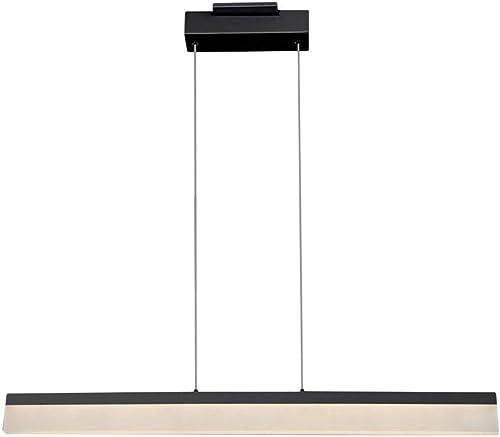 VONN VMC37400BL Procyon LED Linear Chandelier, 36 L x 2.75 W x 118 21.5 H, Black