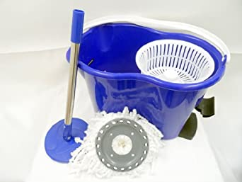 Keneke EASY LIFE 360° Rotating Magic Blue Mop w/2 Heads