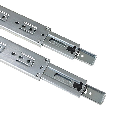 Gobrico 22-Inch Heavy Duty 100 Lb. Full Extension Ball Bearing Drawer Slides Soft Close Rail Runners 1Pair by Gobrico (Image #6)