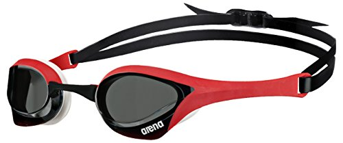 Arena Cobra Ultra Swim Goggles, Smoke/Red/White