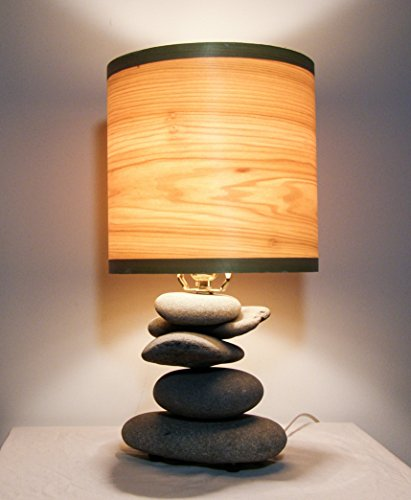 Alaska Beach Stone Lamp with Poplar Shade FREE SHIPPING by Alaska Beachstone Lamps