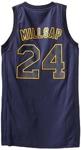 NBA Utah Jazz Winter Court Big Color Swingman Jersey, #24 Paul Millsap, Navy, Large