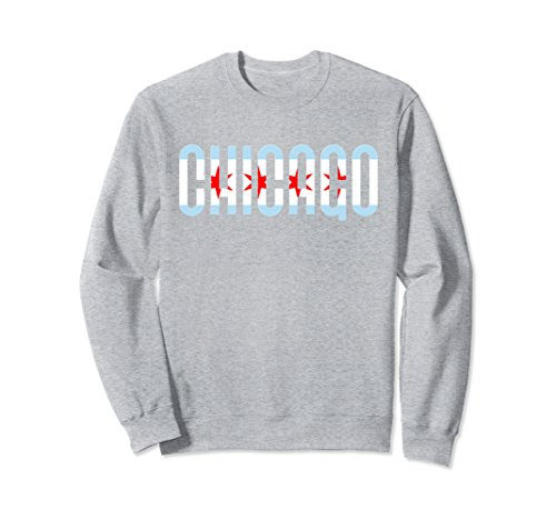 City Crewneck Sweatshirts - Unisex Vintage CHICAGO Crewneck Sweatshirt Chi City Unique Shirt Medium Heather Grey
