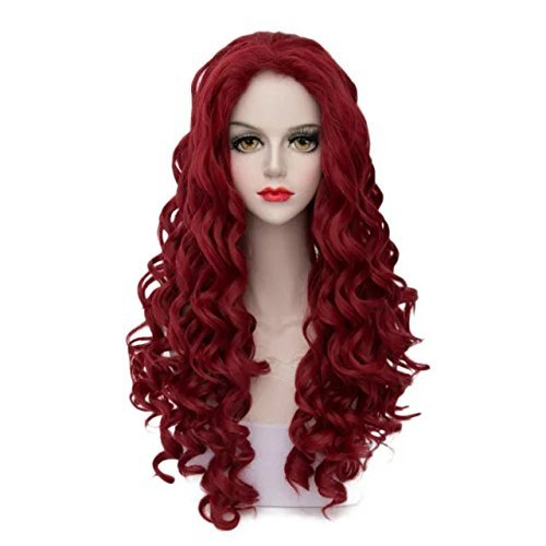35/40/45/55/60/80cm Long Wavy Curly Fashion Ombre Mixed Multicolor Lolita Cosplay Party Wigs+Cap ()