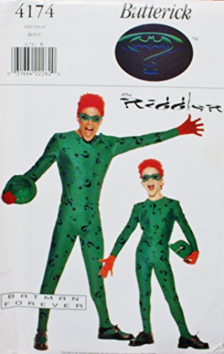 OOP Butterick Costumes Pattern 4174. Boys Szs 6/7,8/10,12/14 Riddler Costume. Batman Forever for $<!--$28.75-->