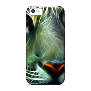 For LittleYard Iphone Protective Case, High Quality For Iphone 5c Tiger Skin Case Cover