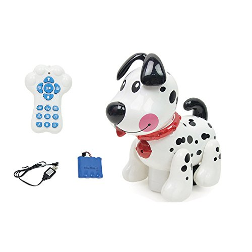 Wireless Voice Control Robot Dog, Interactive Little Baby Pup Walking,Talking,Singing,Stories and Maths, Remote Control Pet for Boys/Girls