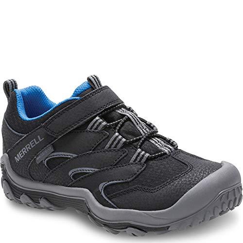 Merrell Boys' Chameleon 7 Access Low A/C WTRPF Hiking Shoe, Black, 1 Medium US Little Kid (Waterproof Merrell Running Shoes)