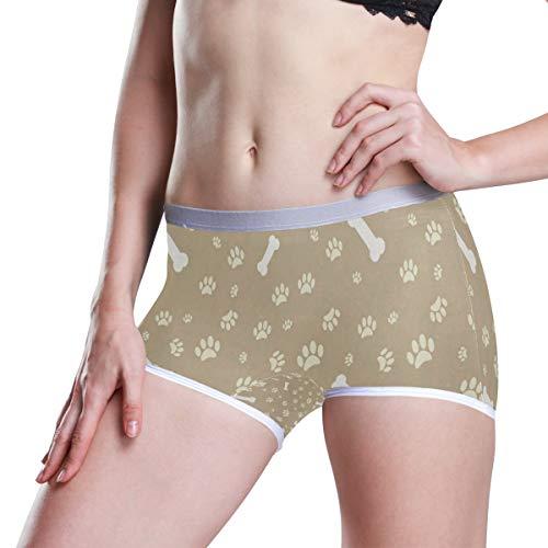 Dog Paw Print Boyleg Panties Womens Boyshort Underwear Soft Boxer Briefs Boy Shorts
