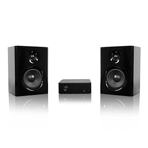 Kanto Surround Headphone Amp Bookshelf Home Speaker, Set of 2, Black (YARO2-SET)