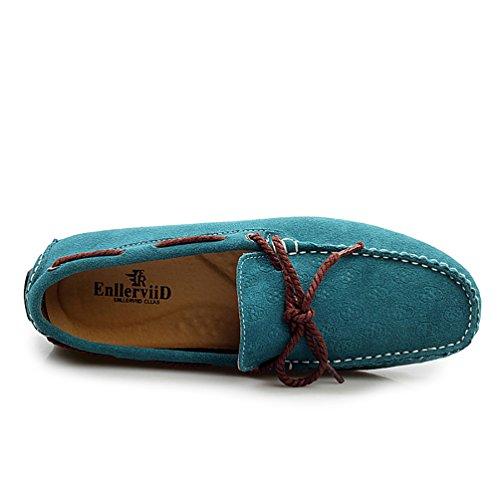 Baymate Hombres Mocasines Casual Zapatos De Conducción Antideslizante suelas Cielo Azul